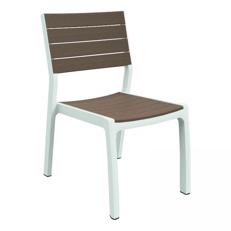 Keter Designová zahradní židle HARMONY - bílé + cappuchino