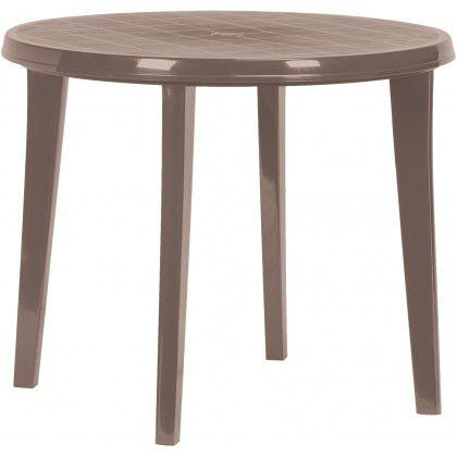 Plastový kulatý stůl LISA – cappuccino