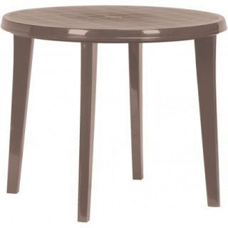 Plastový kulatý stůl LISA - cappuccino
