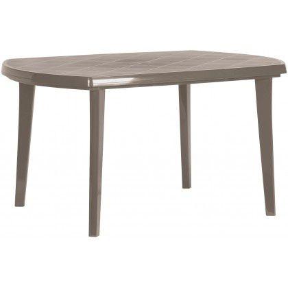 Plastový oválný stůl ELISE – cappuccino