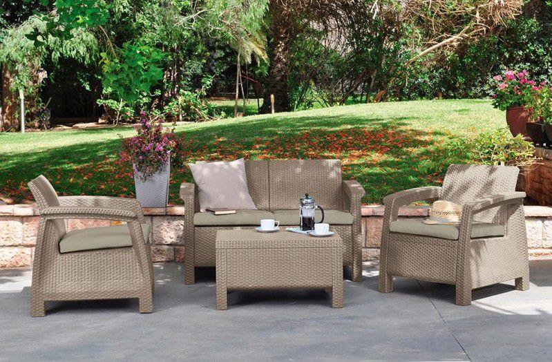 Zahradní set COFRU - cappuccino
