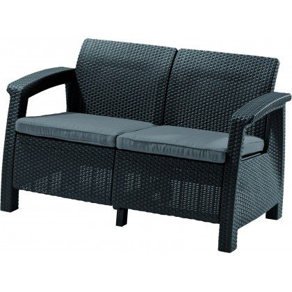 Allibert CORFU LOVE SEAT 35593 Pohovka - antracit
