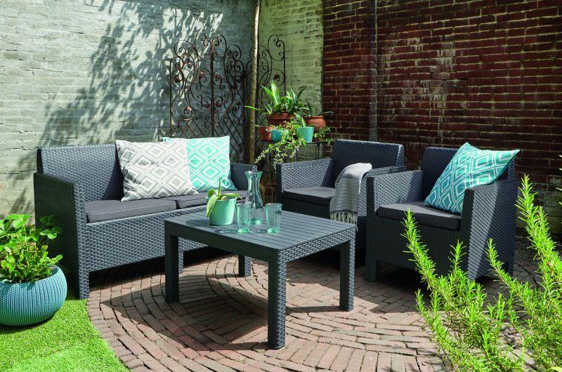 Zahradní set ORLANDO + SMALL TABLE - grafit