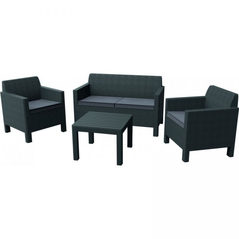 Allibert ORLANDO  SMALL TABLE 35629 Zahradní set - grafit