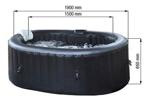 Vířivka mobilní Belatrix Mountine 120 - 1,95 cm