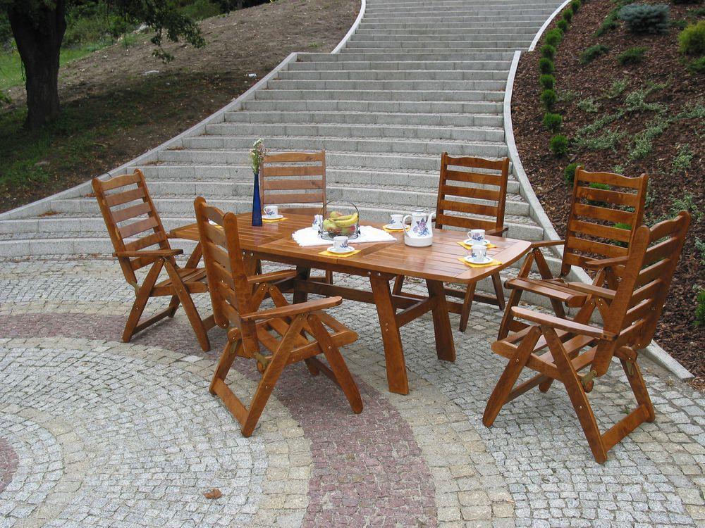 WOOD 40983 Zahradní dřevěný stůl RUSTIKA