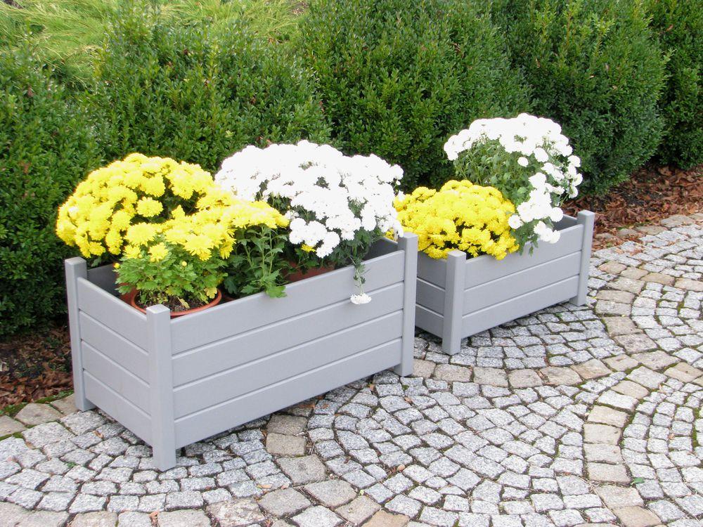 Set obdelníkových květináčů - 2 ks