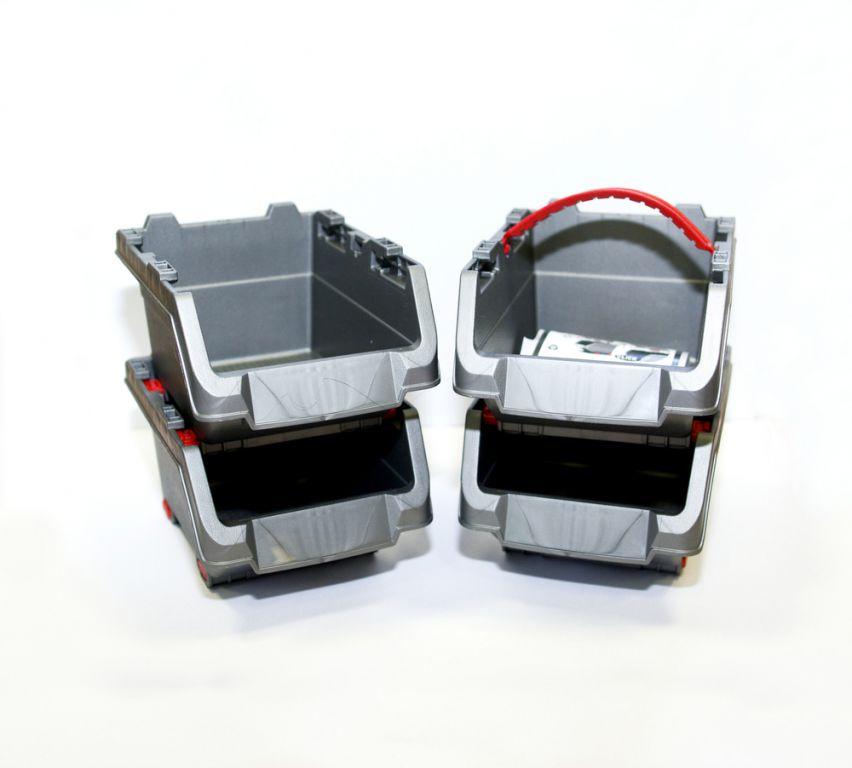 Sada plastových boxů KETER CLICK BINS set – S – 4 organizéry KETER