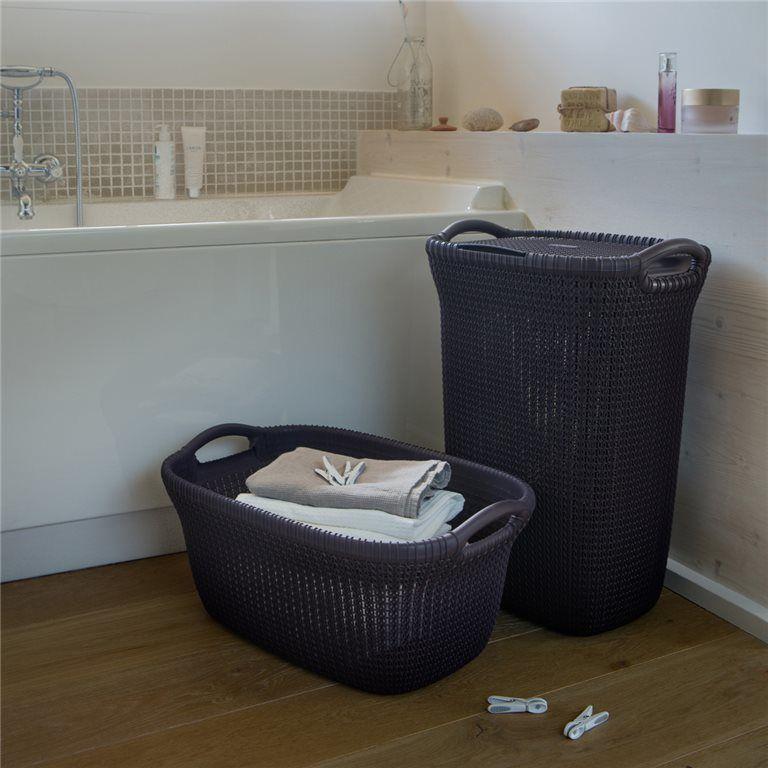 Koš na špinavé  prádlo 57L – fialový CURVER