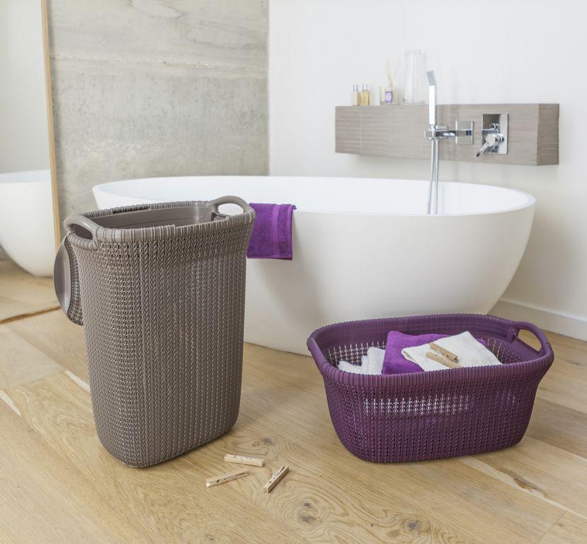 Koš na čisté prádlo 40L - fialový CURVER