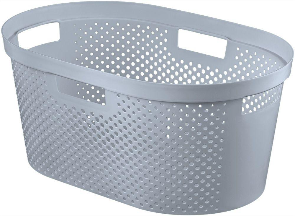 Curver Koš na čisté prádlo INFINITY DOTS 39l šedý