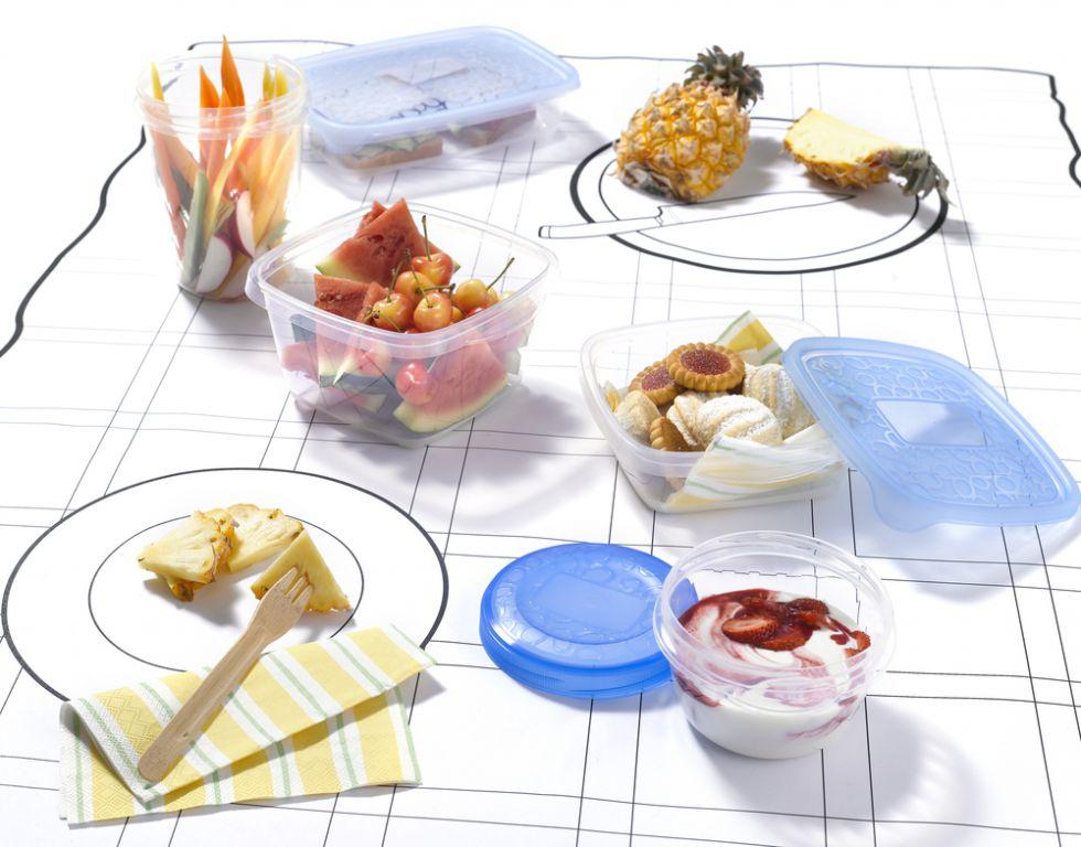 Set potravinových dóz 3x1L set dóz - modrý CURVER