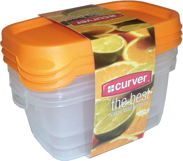 Set potravinových dóz 3x 0,5 l set dóz - MIX CURVER
