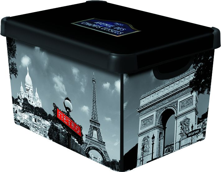 Curver L PARIS Box úložný dekorativní