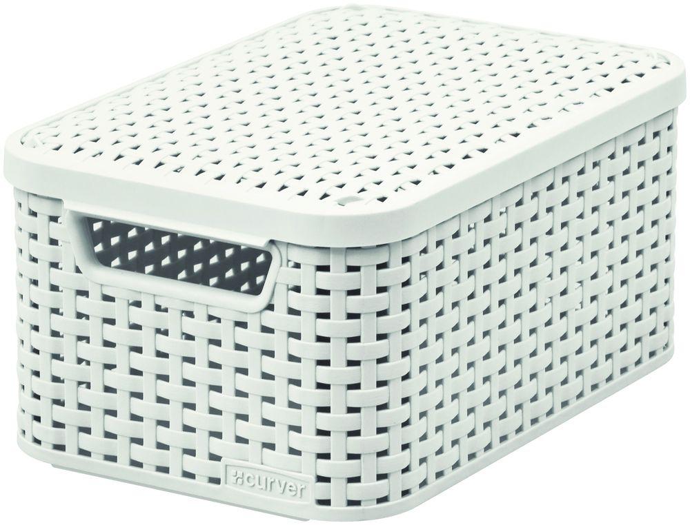CURVER Košík box s víkem - S - krémový R41115
