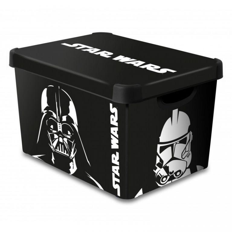 Úložný box s víkem  - L - STAR WARS CURVER