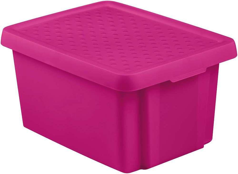 Úložný box s víkem 16L – fialový CURVER