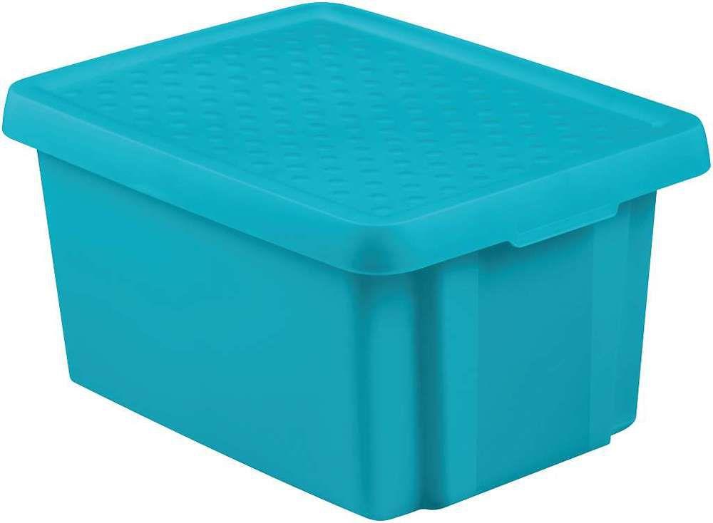 Úložný box s víkem 16L – modrý CURVER