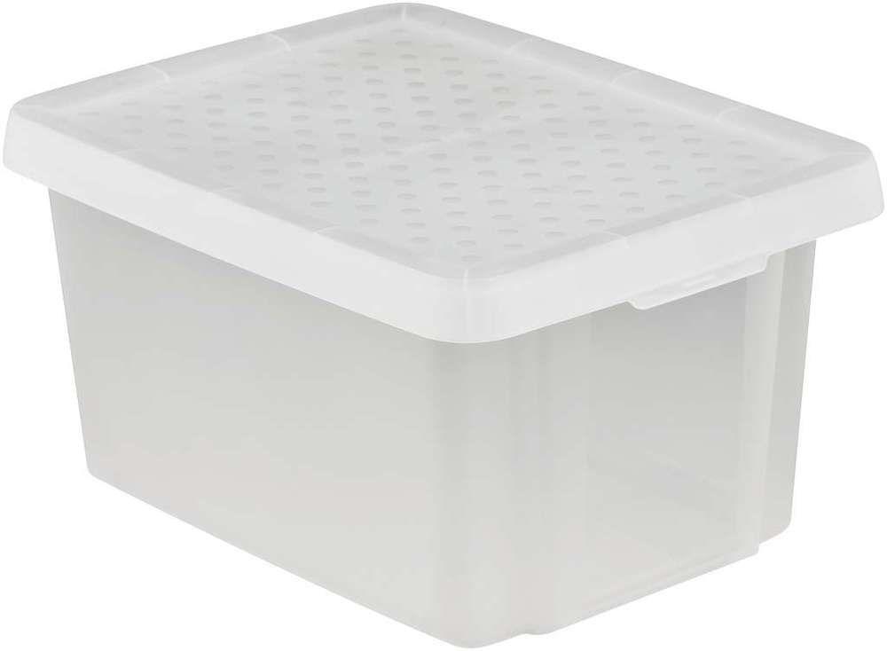 Úložný box s víkem 16L – transparentní CURVER