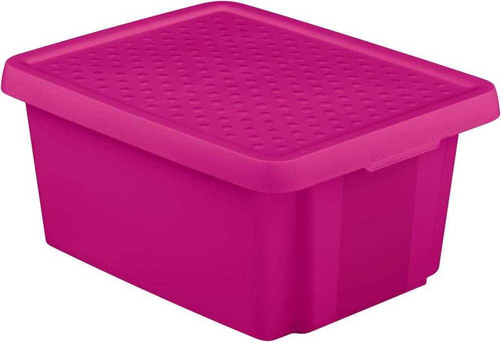 Úložný  box s víkem 20L - fialový CURVER