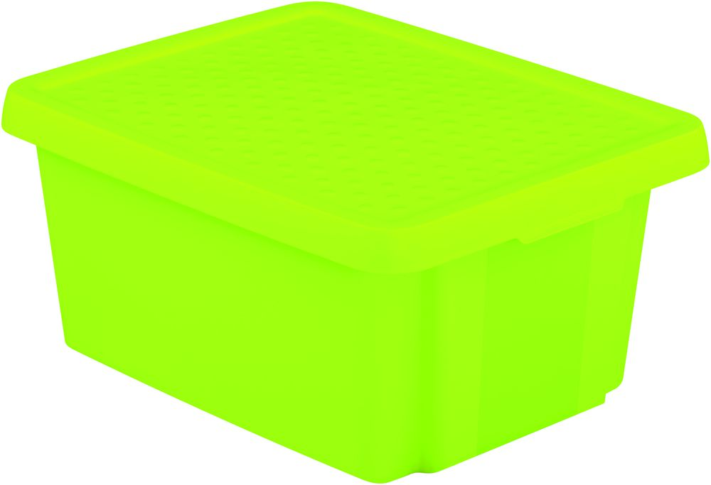 CURVER Úložný box s víkem 20L - zelený R41140