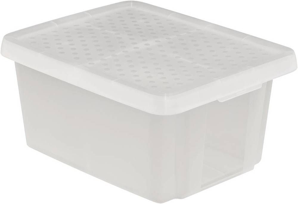 Úložný box s víkem 20L - transparentní KURVER