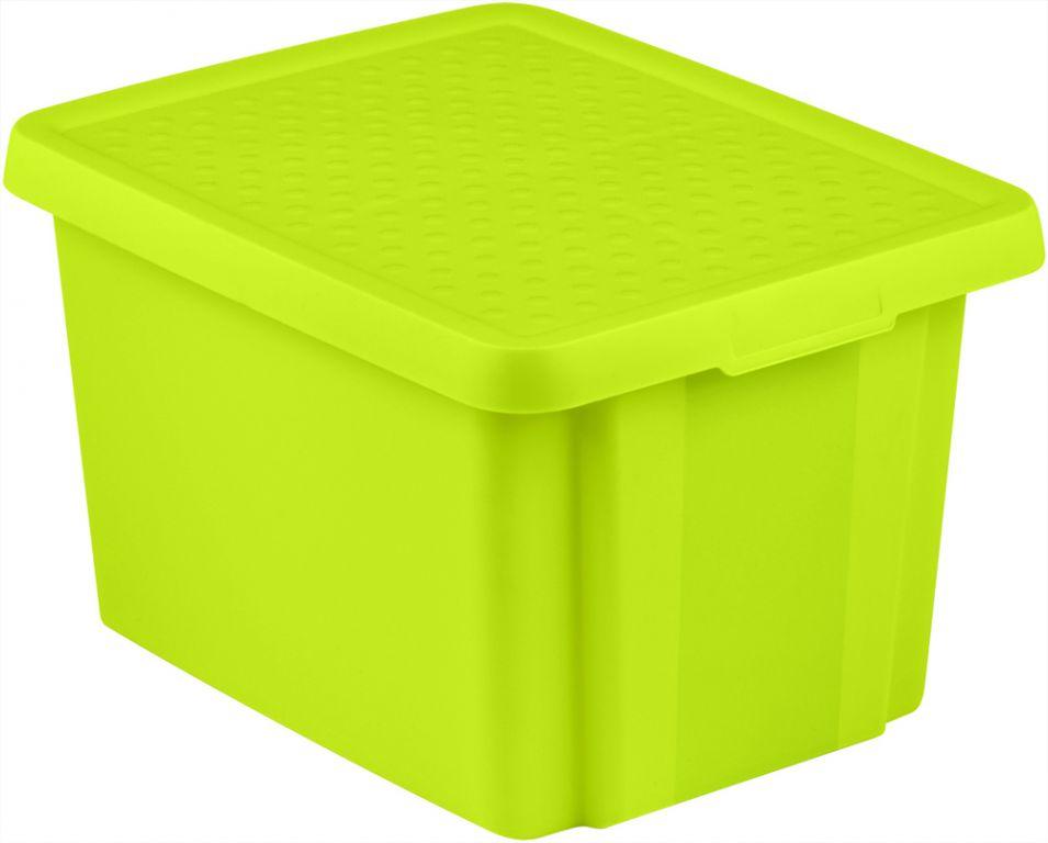 CURVER Úložný box s víkem 26L - zelený R41144