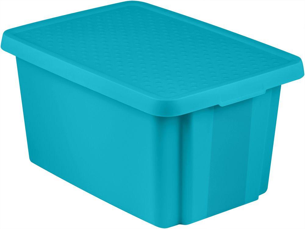 Úložný  box s víkem  26L - modrý CURVER