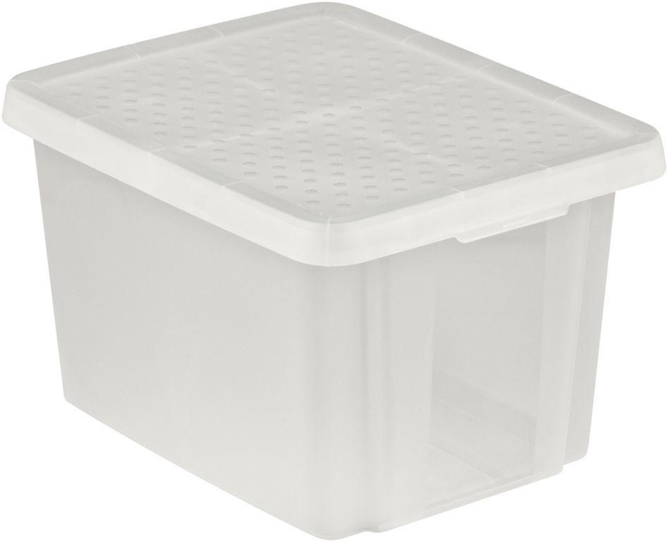 Úložný  box s víkem  26L - transparentní CURVER