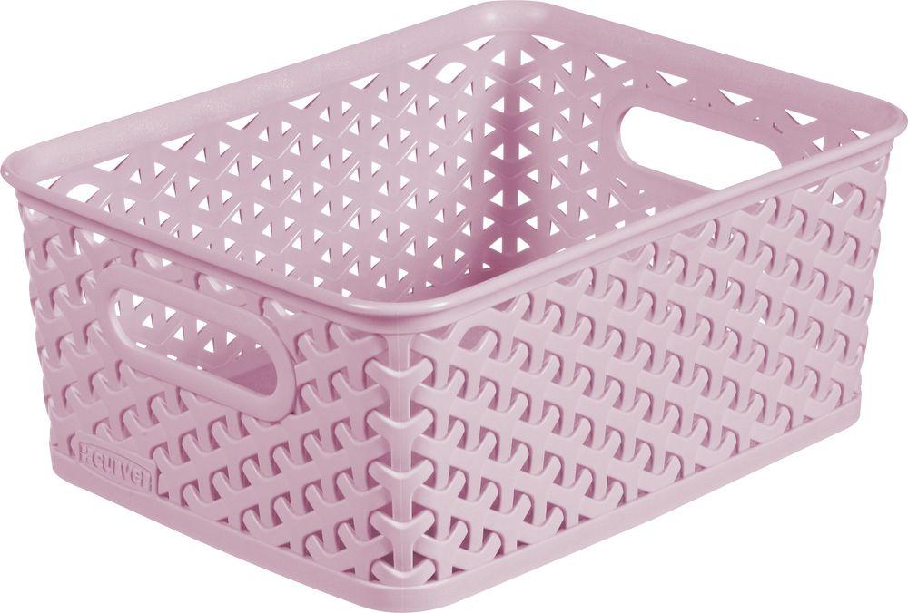 Košíček box - S - růžový CURVER