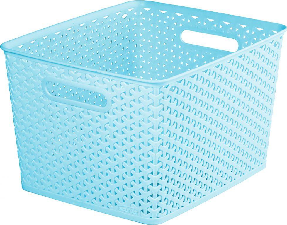 Košík plastový  box - L - modrý CURVER