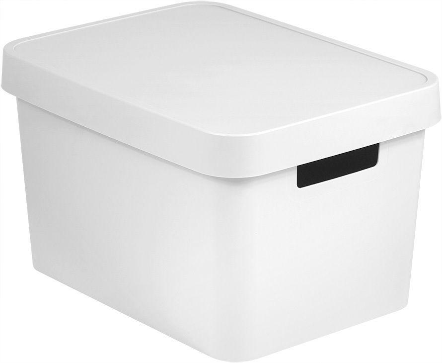 CURVER Úložný box plastový s víkem 17L - bílý R41165