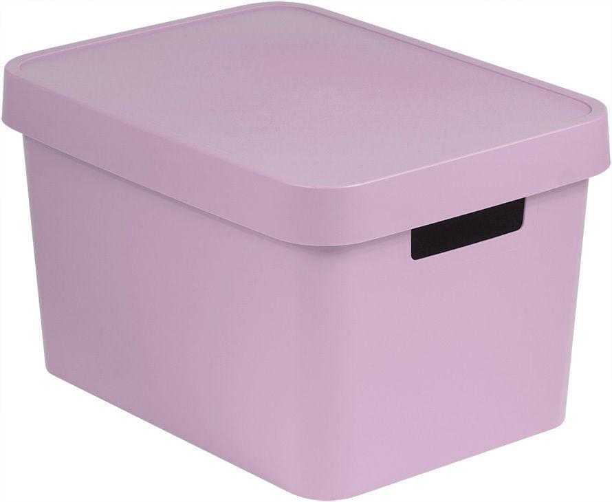 CURVER Úložný box plastový s víkem 17L - růžový R41166