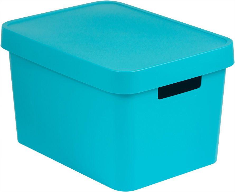 Úložný  box plastový s víkem 17L - modrý CURVER