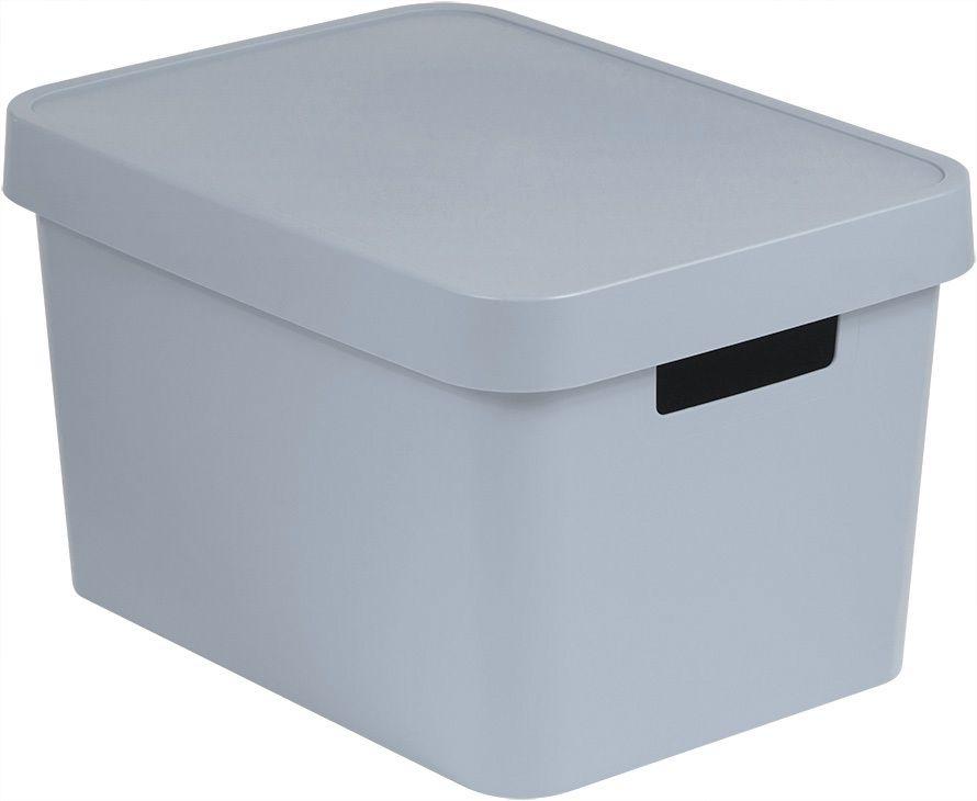 CURVER Úložný box plastový s víkem 17L - šedý R41168