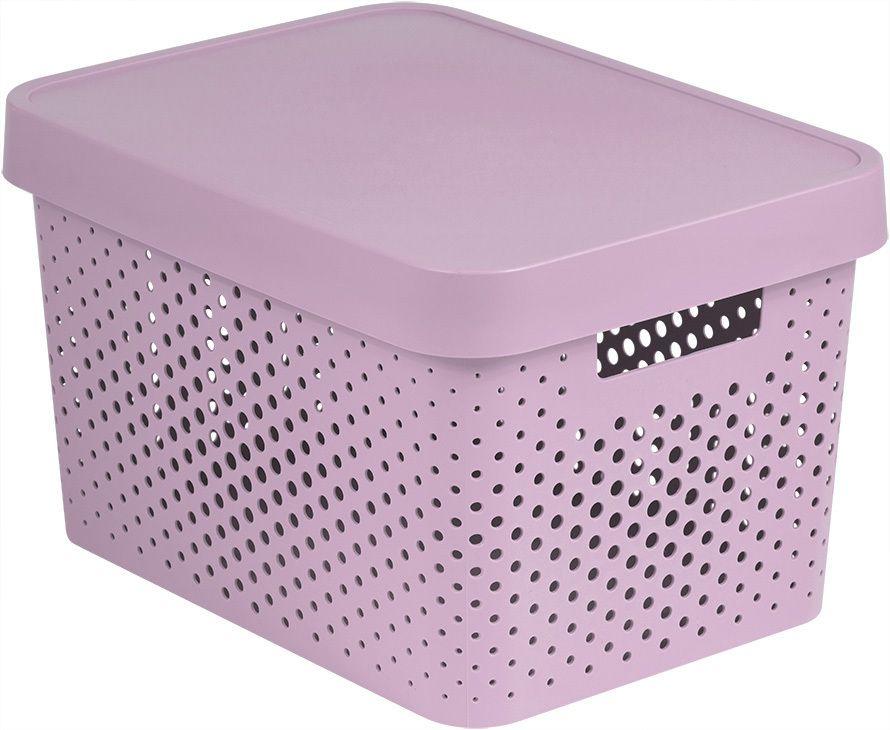 CURVER Úložný box s víkem plastový 17L - růžový R41170