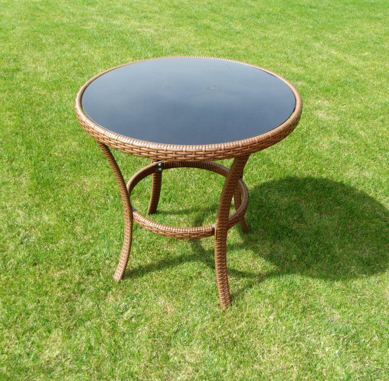Zahradní stolekl  RATAN  ø 80cm