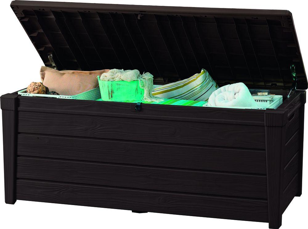 Zahradní úložný box BRIGHTWOOD 455L – hnědý