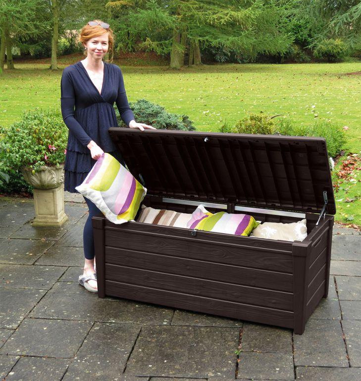 Zahradní úložný box BRIGHTWOOD 455L - hnědý