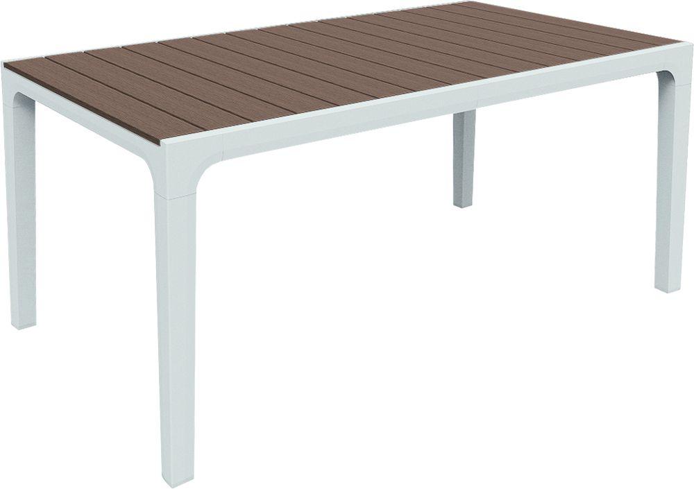 RojaPlast Zahradní plastový stůl HARMONY cappuchino + bílá