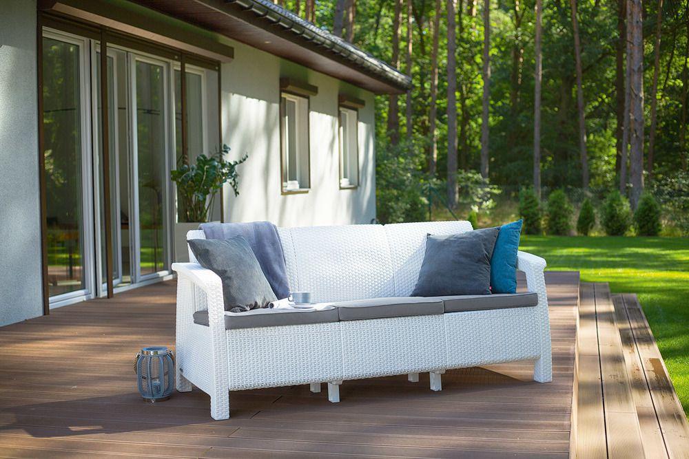 Zahradní pohovkaCORFU LOVE SEAT MAX - bílá