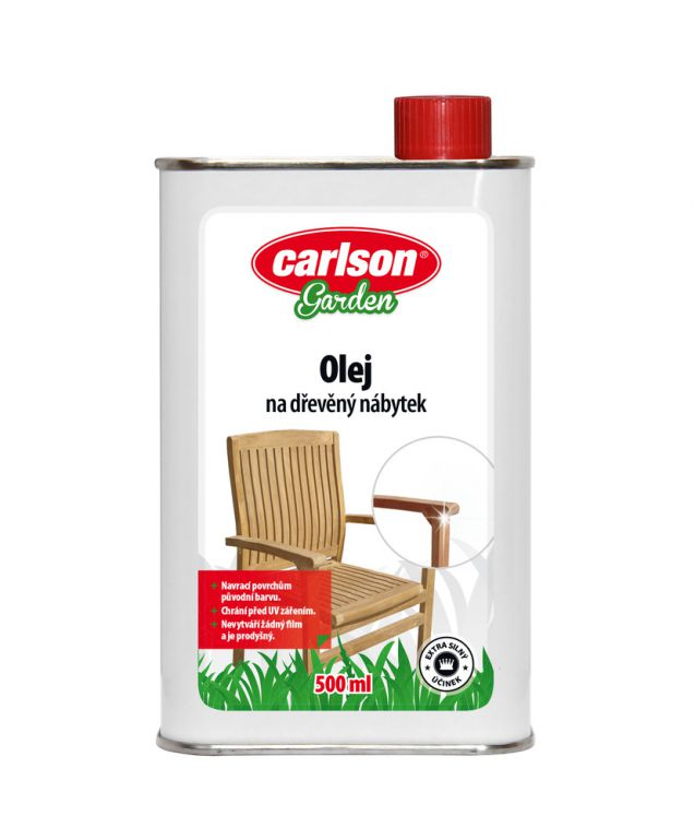 Carlson Garden olej na dřevěný nábytek 500ml