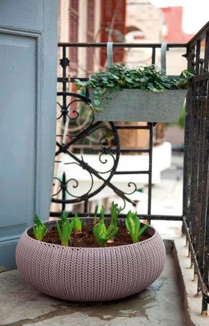 Květináč COZIES KNIT  – tmavě fialová
