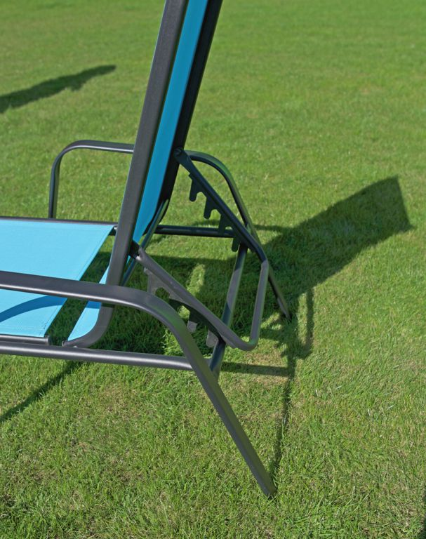 Zahradní lehátko kovové -  světle modré