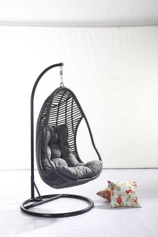 RojaPlast Luxusní závěsné křeslo CALI z umělého ratanu
