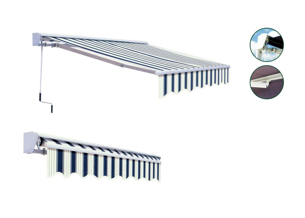 Markýza 3x2 m s krytem - béžový pruh - vzor 318