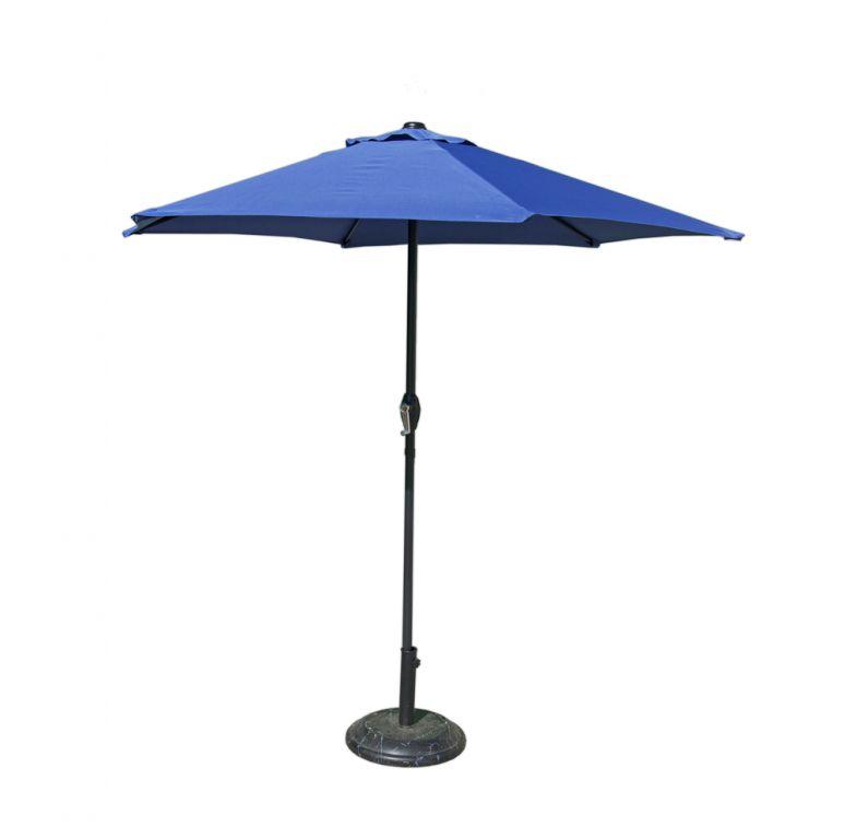 Slunečník 230 cm - světle modrý