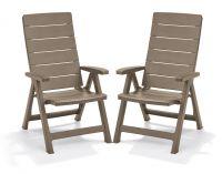 Zahradní židle Brasilia - cappuchino 2 ks