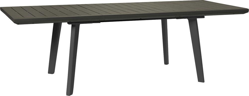 Allibert 41401 ALLIBERT zahradní plastový Stůl HARMONY EXTENSION grafit+šedohnědý