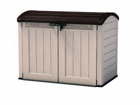 Zahradní úložný box STORE 120 x 146 x 82 cm - bézs/barna